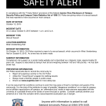 OU ALERT: Report of sexual assault on campus