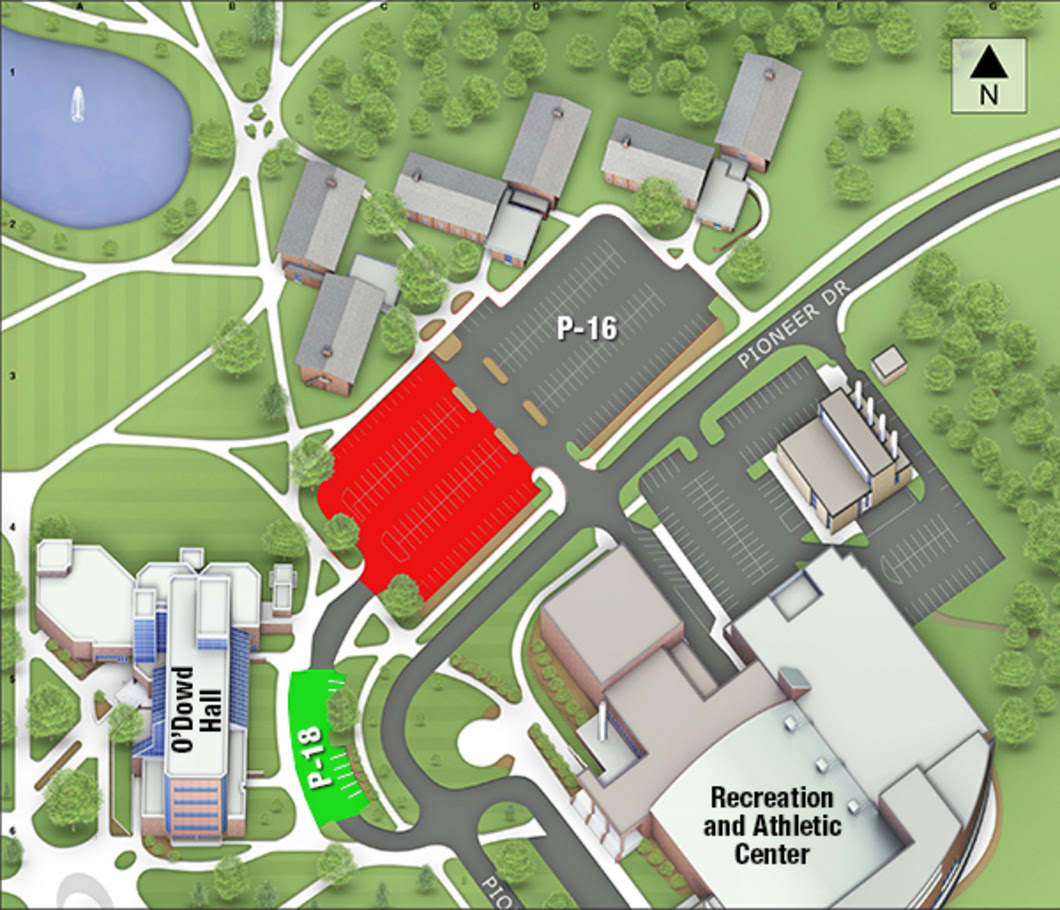 P-16 lot to be reserved for OUWB School of Medicine Commencement